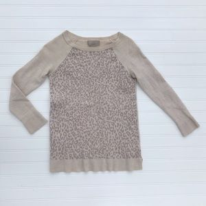 Long sleeved cheater print sweater!